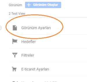 Google Analtytics Arama İzleme