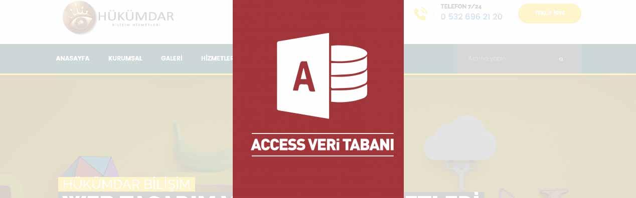 Web Sitesini Access veri Tabanına Bağlamak