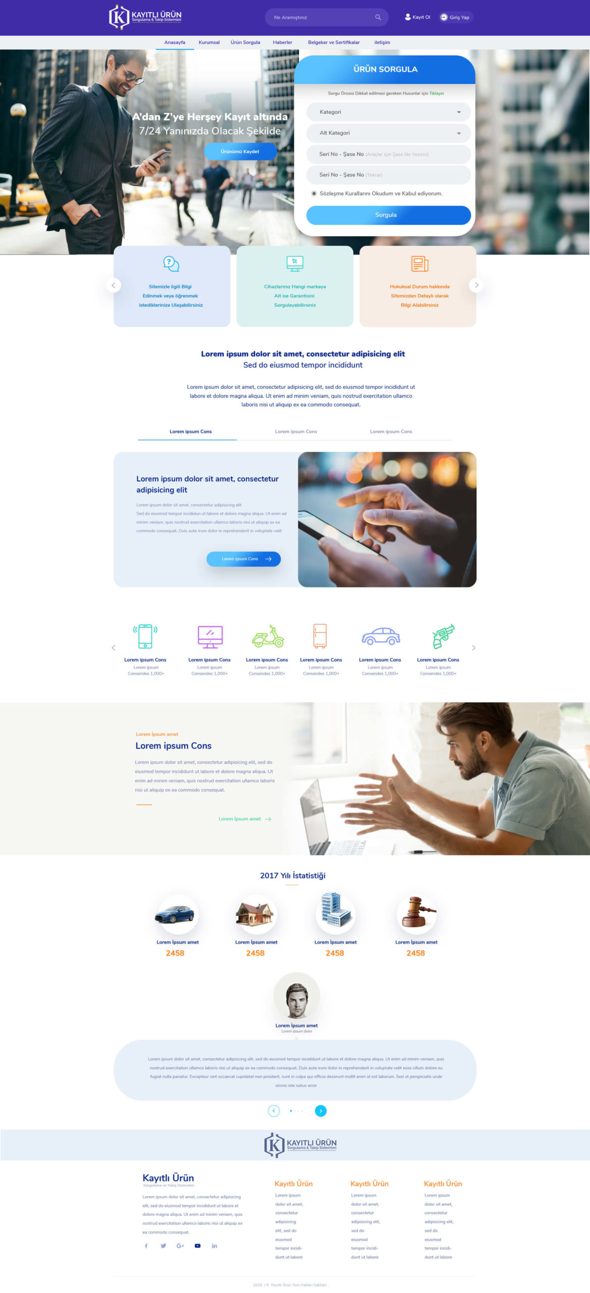 Kayıtlı Ürün Web Tasarım ve Mobil Uygulama