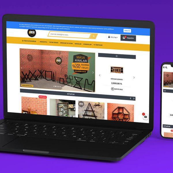 Bıckı Ahşap Eticaret web sitesi tasarımı