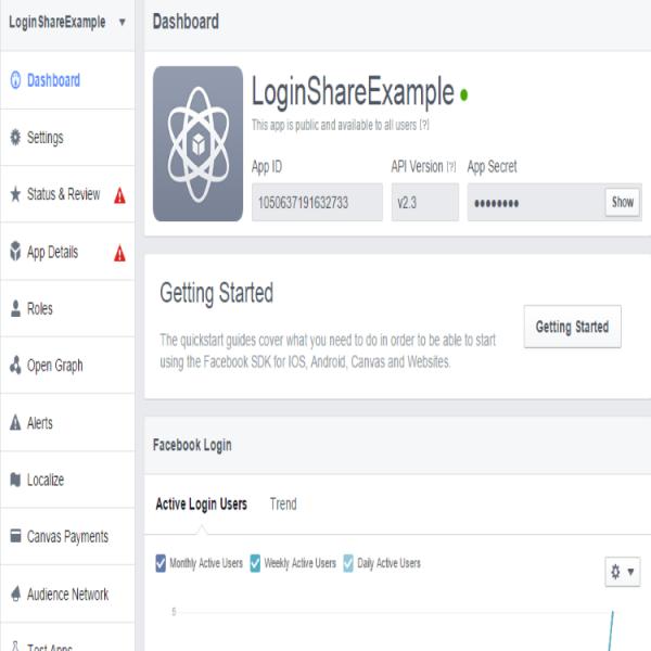 Facebook SDK'sı Üzerinden Login Metodunu Çağırmak